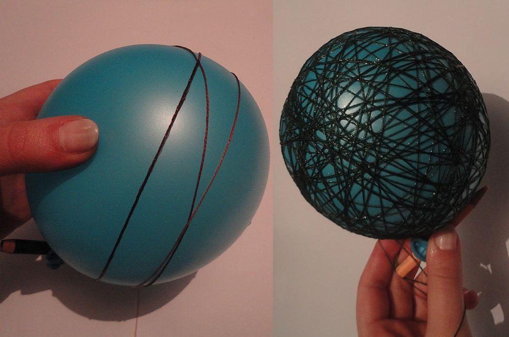 KROK II – Owijanie balonów włóczkami   Zdjęcie   Zrobiszsam.pl